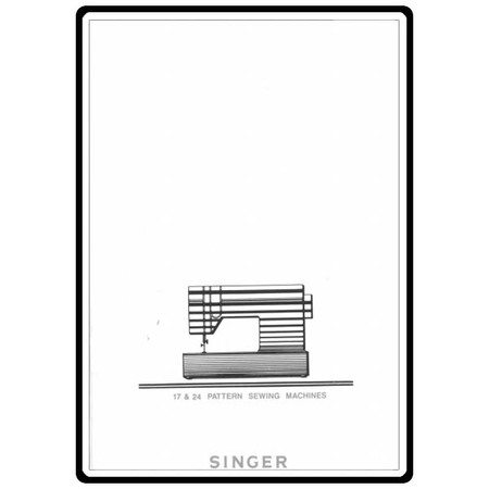 Instruction Manual, Singer 7043