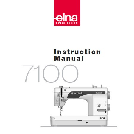 Instruction Manual, Elna 7100