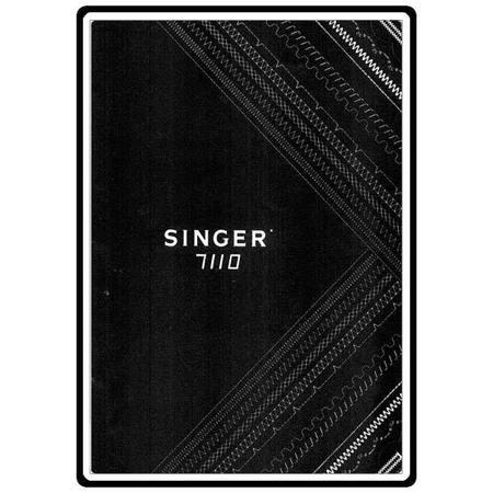 Instruction Manual, Singer 7110