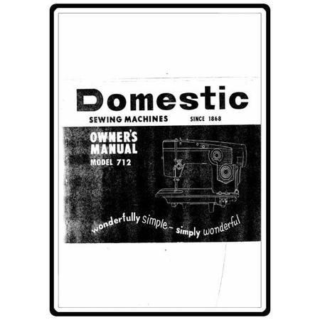 Instruction Manual, White 712