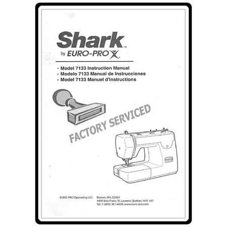 Instruction Manual, Euro Pro 7133