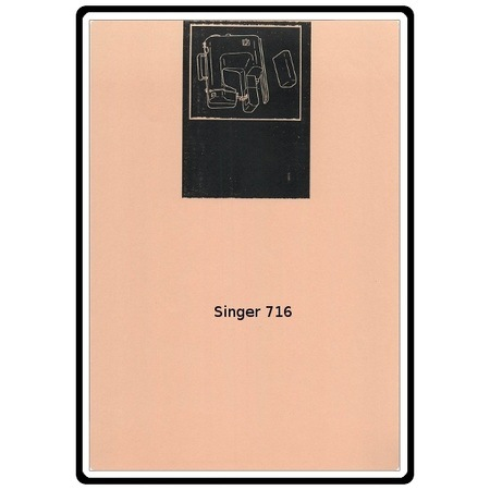 Instruction Manual, Singer 716