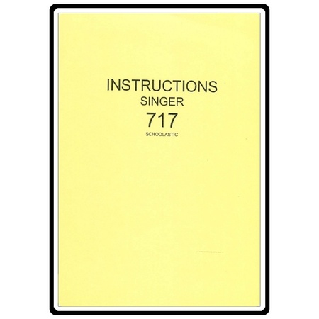 Instruction Manual, Singer 714