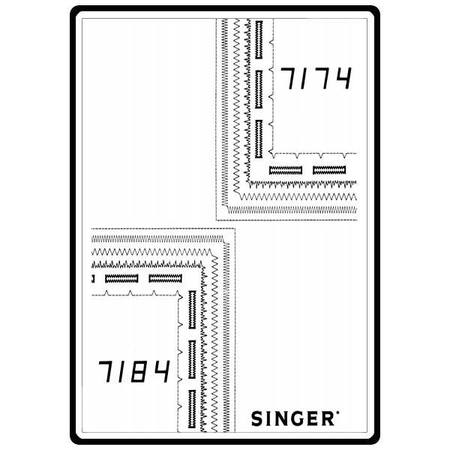 Instruction Manual, Singer 7174