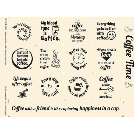 Coffee Time Fabric Panel - Ivory