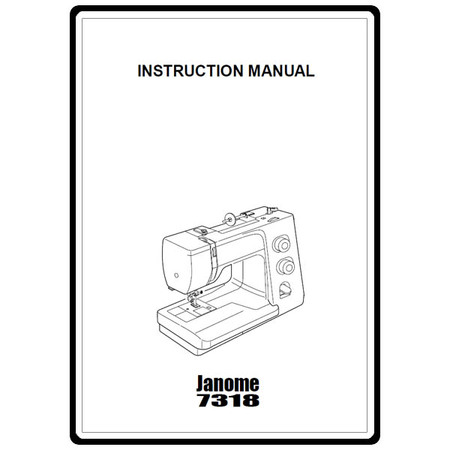 Instruction Manual, Janome 7318