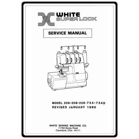 Service Manual, White 734D