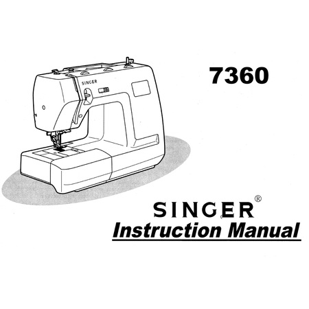 Instruction Manual, Singer 7360