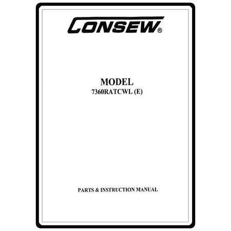 Instruction Manual, Consew 7360RATCWL (E)