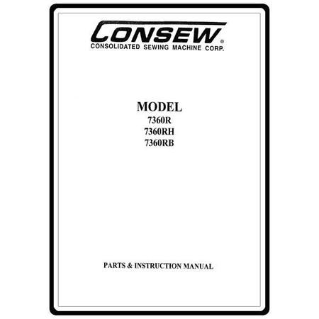 Instruction Manual, Consew 7360RH