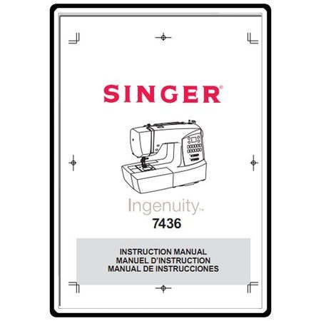 Instruction Manual, Singer 7436