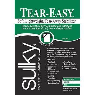 "Sulky Tear-Easy Stabilizer, Black, 12"" x 11yds"