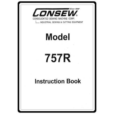 Instruction Manual, Consew 757R