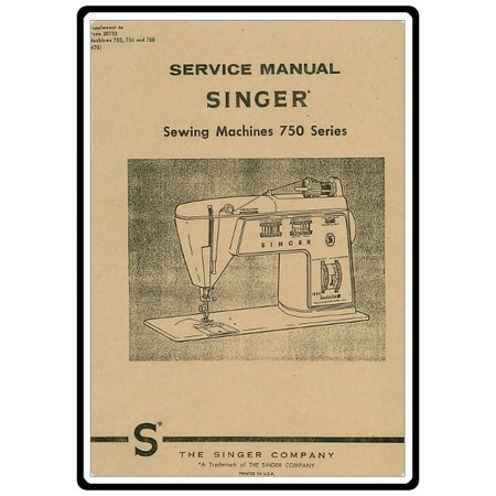 Service Manual, Singer 758