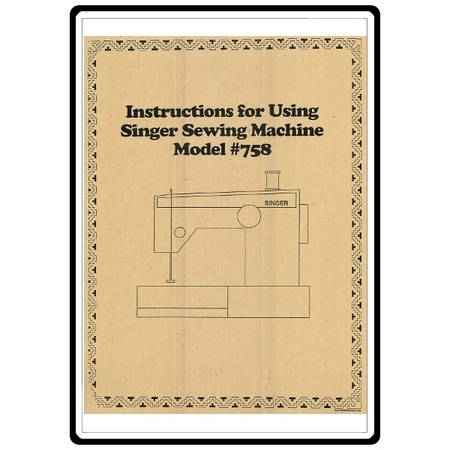 Instruction Manual, Singer 778