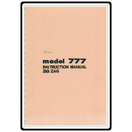 Instruction Manual, Riccar 777