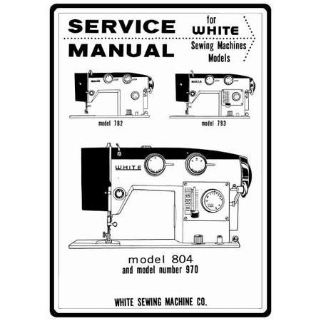 Service Manual, White 782