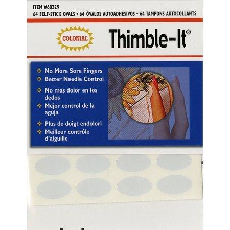 Thimble-It, Self-Stick Oval Pads (64pk), Colonial Needle