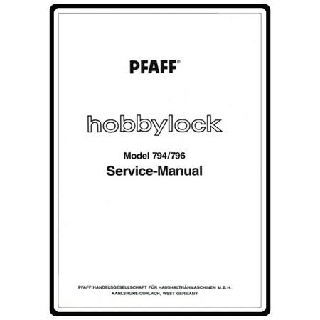 Service Manual, Pfaff 796