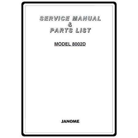 Service Manual, Janome 8002D