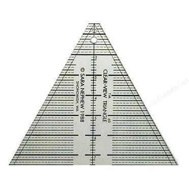 "8"" ClearView Triangle Ruler"