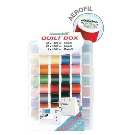 Thread Aerofil Quilt Box 63 Spools with Thread Rack