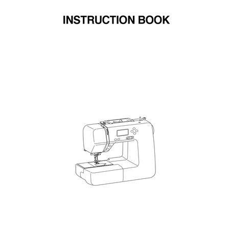 Instruction Manual, Janome DC1050