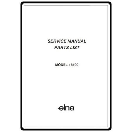 Service Manual, Elna 8100