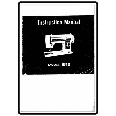 Instruction Manual, White 815