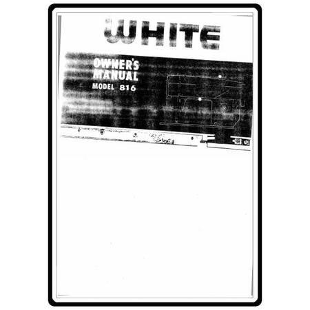 Instruction Manual, White 816