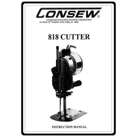 Instruction Manual, Consew Cutter 818
