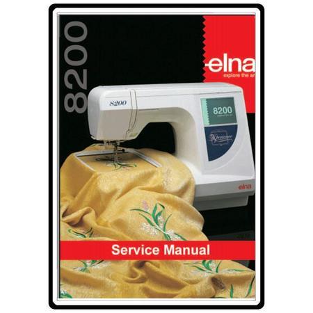 Service Manual, Elna 8200