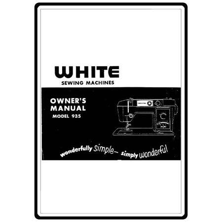 Instruction Manual, White 823