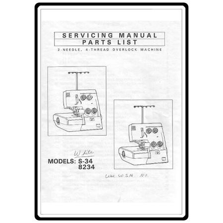 Service Manual, White 8234