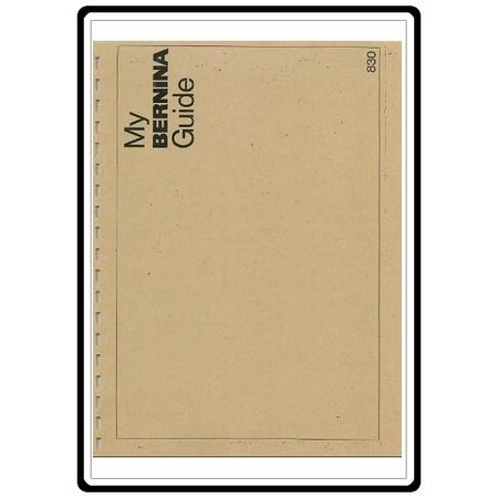 Instruction Manual, Bernina 831