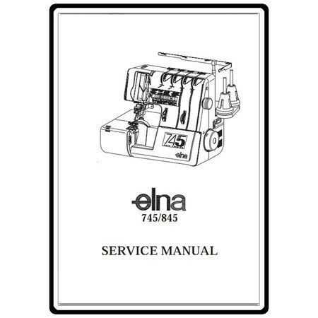 Service Manual, Elna 845