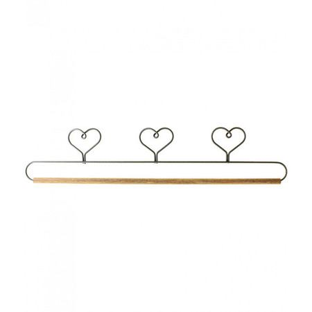 Three Heart Holder with Dowel, 15in