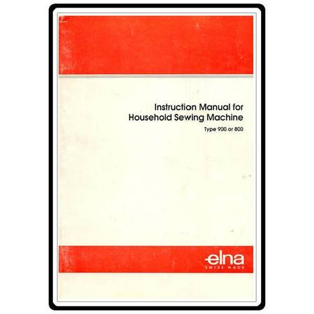 Instruction Manual, Elna 9000 Computer