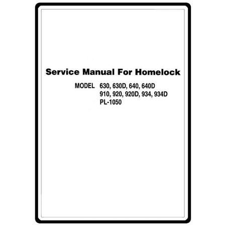 Service Manual, Brother 910