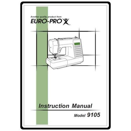 Instruction Manual, Euro Pro 9105