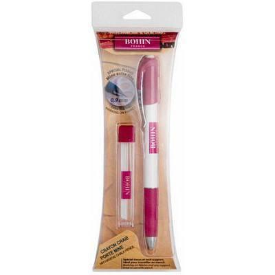 Extra Fine Tip Chalk Pencil w/ Refills (White), Bohin