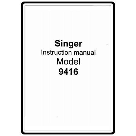 Instruction Manual, Singer 9416