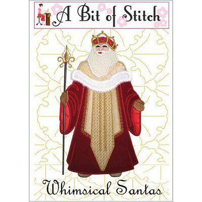 Whimsical Santas Machine Embroidery Design