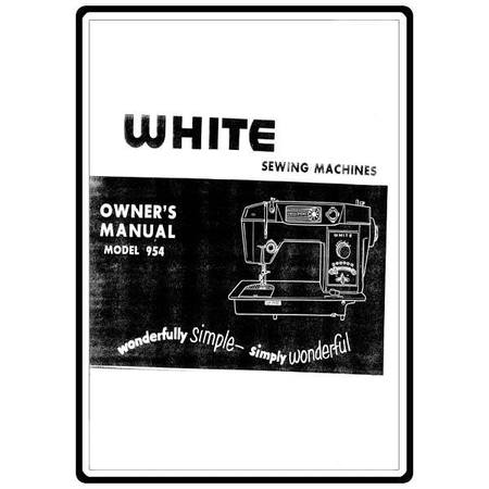Instruction Manual, White 954
