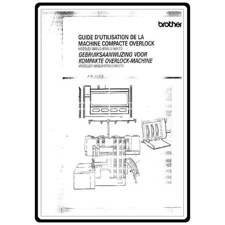 Instruction Manual, Brother Compact Overlock 9600TD