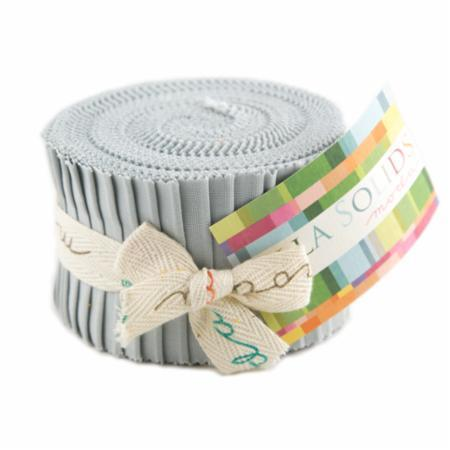 Zen Grey, Moda Bella Solids Fabric, Junior Jelly Roll