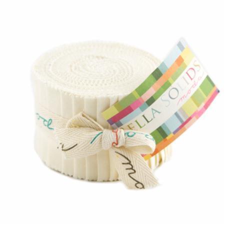 Ivory, Moda Bella Solids Fabric, Junior Jelly Roll