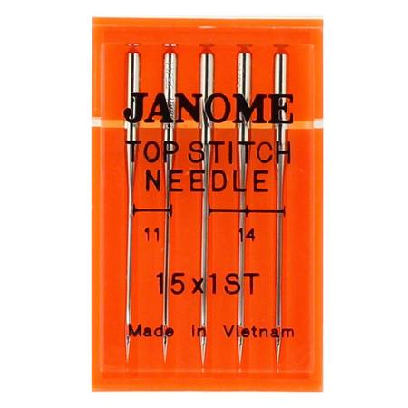 Top Stitch Needle 15x1 (5pk), Janome #9905