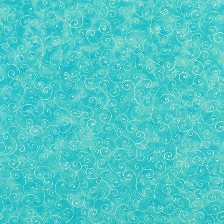 Moda Classic, Marble Swirls, Turquoise Fabric