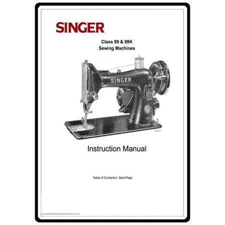 Instruction Manual, Singer 99K